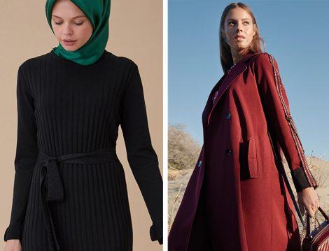 Kayra Triko Elbise ve Trençkot Modeli