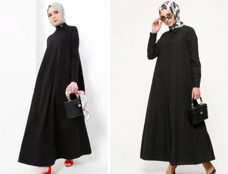 Refka Siyah Bol Elbise Modelleri