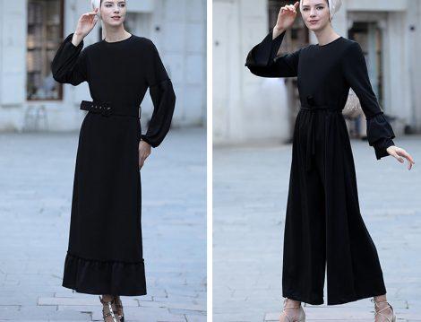 Selma Sarı Design Sİyah Tulum ve Elbise Modelleri