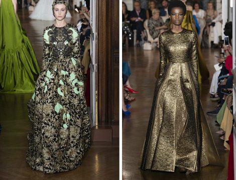 Valentino 2018-19 Sonbahar – Kış Couture Brokar Elbise Modelleri