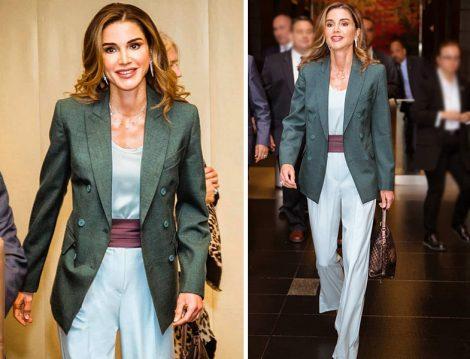 Ürdün Kraliçesi Rania al Abdullah'ın Tulum-Ceket Stili