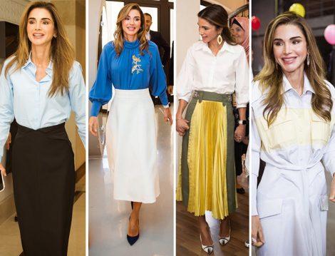 Ürdün Kraliçesi Rania al Abdullah Etek Bluz Stilleri