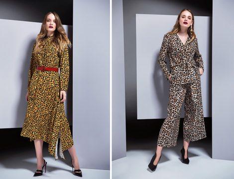Berrin İstanbul 2018-19 Leopar Desen Elbise ve İkili Takım