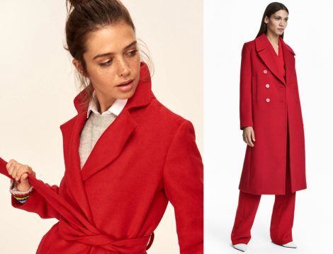 Kırmızı Palto Kombini