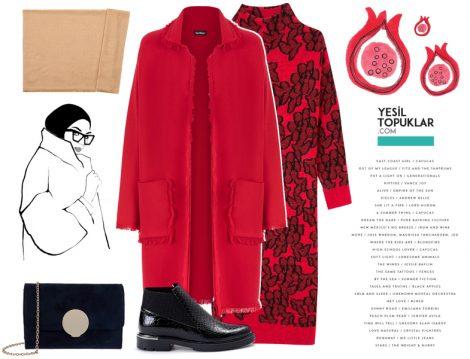 Kırmızı Palto Kombinleri