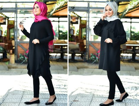 Nurgül Çakır Siyah Tunik Modelleri