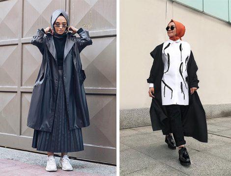 Pure Giyim Trençkot ve Etek-Almarwah Black Beyaz Gömlek Modeli