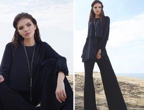Qui Prive Official Siyah Pantolon Tunik Takım