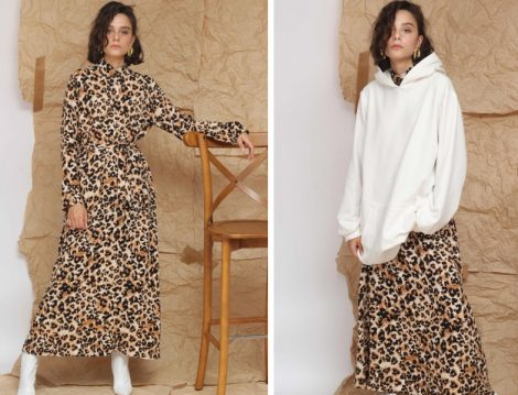 Suud Collection Leopar Elbise