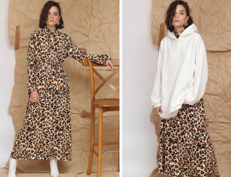 Suud Collection Leopar Elbise