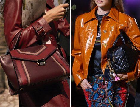 Versace Taba Ceket-Siyah Çanta ve Michael Kors Bordo Ceket-Çanta
