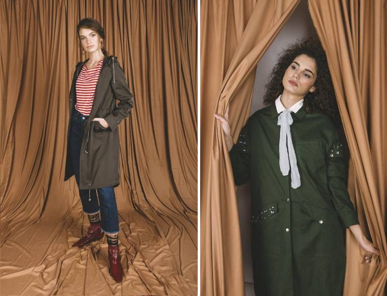 Vesna Desing 2018-19 Koyu Yeşil Trençkot