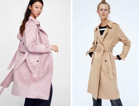 Zara 2018-19 Sonbahar Kış Trençkot Modeli