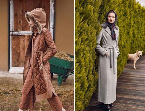 2019 Tesettür Palto Modelleri