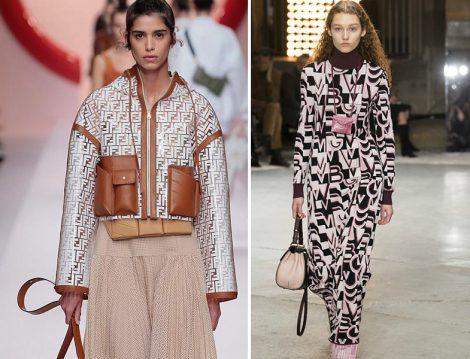 Fendi Logolu Yağmurluk ve Valentino Logolu Elbise