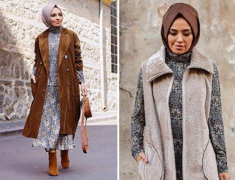 H&M Desenli Elbise