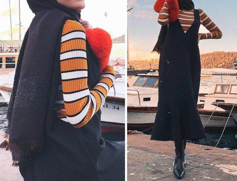 Jile Elbise & Çizgili Triko Kazak & Çorap Çizme