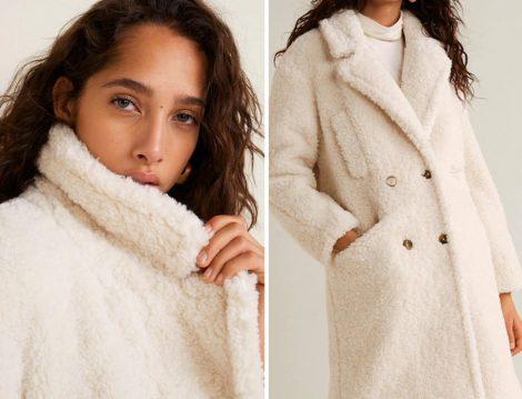 Mango Beyaz Palto