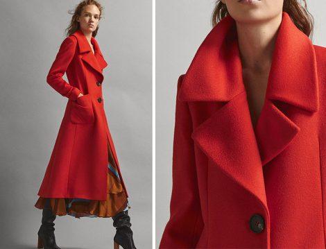 Massimo Dutti Kırmızı Palto