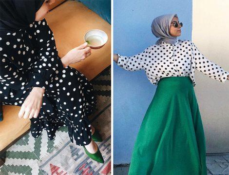 Puantiye Desenli Elbise ve Gömlek Modelleri