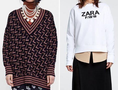 Zara Logolu Lazak ve Sweatshirt Modelleri