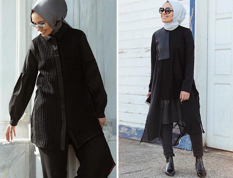Almarwahblack Siyah Tunik Modelleri