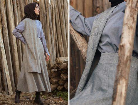 Armağan Giyim Ekose Desen Etek