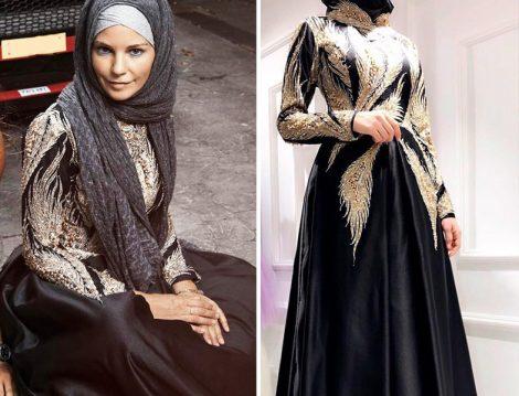 Burcu Çetinkaya'nın Lazaza Gülcan İmzalı Abiye Elbise Tasarımı