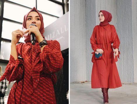 Kırmızı Elbise Kombinleri