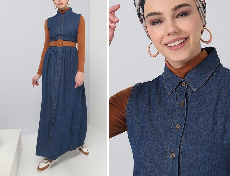 Mavi Tesettür Giyim Modelleri 2019