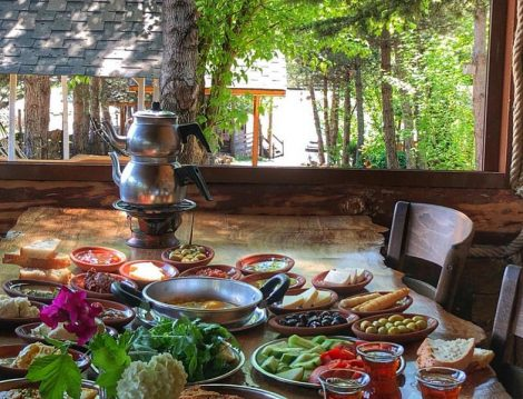 Mengen Çiftlik Et Mangal Bahçede Kahvaltı