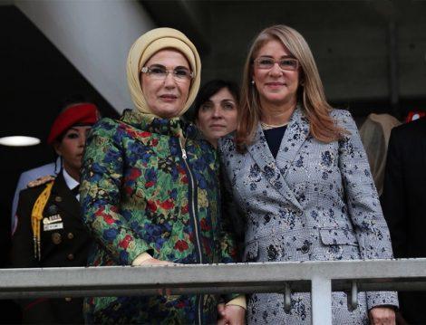 Türkiye Başkanı Eşi Emine Erdoğan ve Venezuela Cumhurbaşkanı eşi Cilia Flores