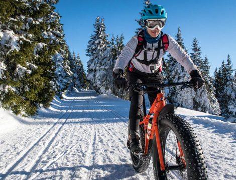 Abant'ta Kış Aktivitesi Bisiklet Turu