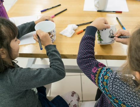 Akbank Sanat Çocukar İçin Kupa Boyama Atölyesi
