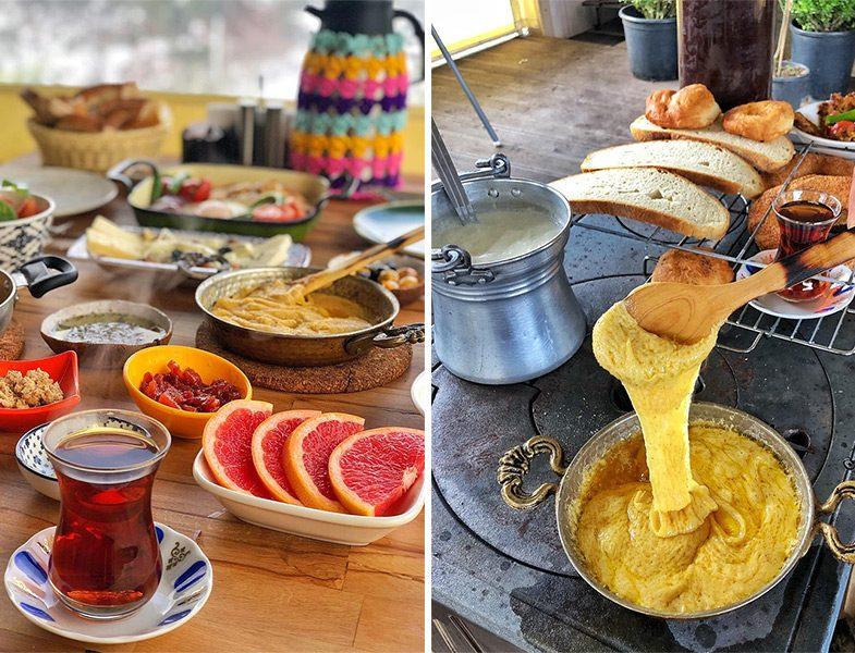Botanik Kahvaltı Mıhlama ve Serpme Kahvaltı