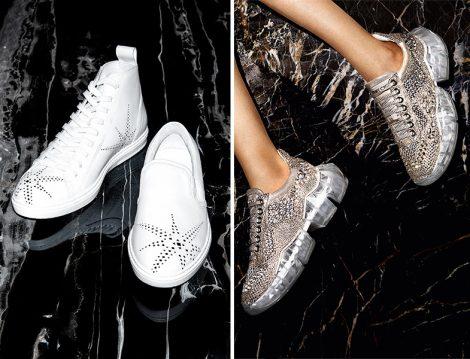 Jimmy Choo Cruise 2019 Koleksiyonu Taşlı Spor Ayakkabı