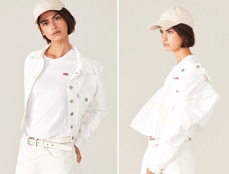 Levi's® 2019 İlkbahar Beyaz Ceket ve Basic Tişört
