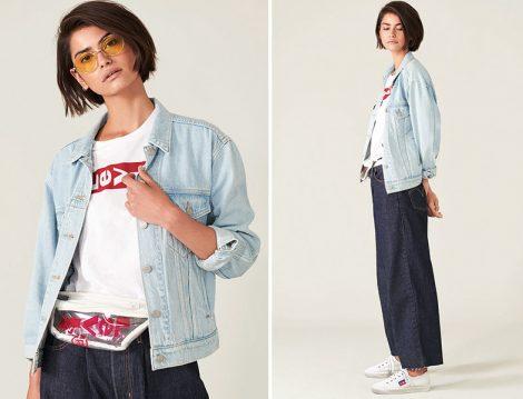 Levi's® 2019 İlkbahar Bol Pantolon Denim Ceket