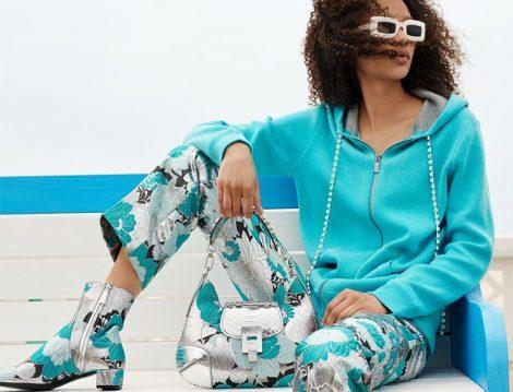 Michael Kors Collection İlkbahar 2019 Çiçek Desenli Pantolon-Bot ve Çanta Modelleri