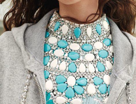 Michael Kors Collection İlkbahar 2019 Taş Detaylı Bluz