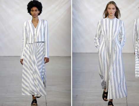 2019 İlkbahar – Yaz Koleksiyonlarından Marin Çizgili Elbise