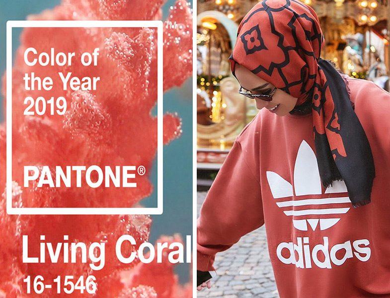 2019 Yılının Rengi Canlı Mercan ve Adidas Sweat