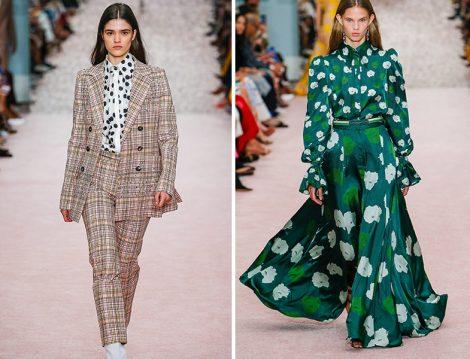 Carolina Herrera 2019 İlkbahar Yaz Desenli Modeller