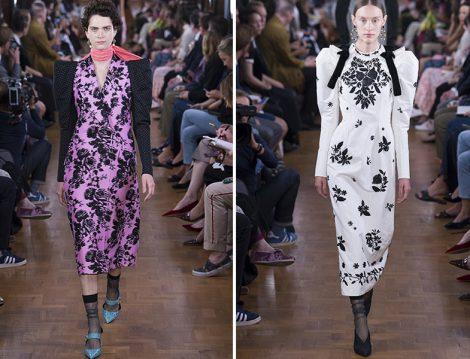 Erdem 2019 İlkbahar Yaz Desenli Elbise