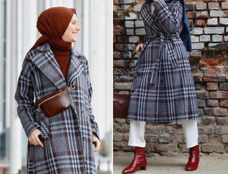 KK Design Ekose Desen Palto