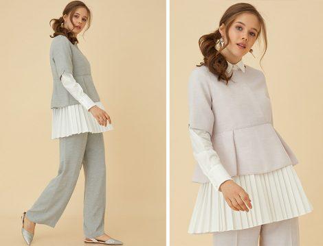 Kayra Pilise Detaylı Tunik Pantolon Takım