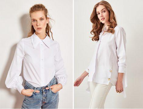 TRENDYOLMİLLA Beyaz Gömlek