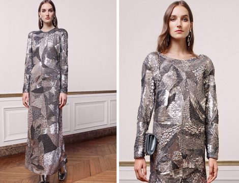 Alberta Ferretti Limited Edition 2019 İlkbahar Yaz Couture Koleksiyonu Işıltılı Abiye Elbise
