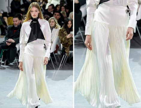 Alexandre Vauthier İlkbahar Yaz 2019 Couture Pileli Etek
