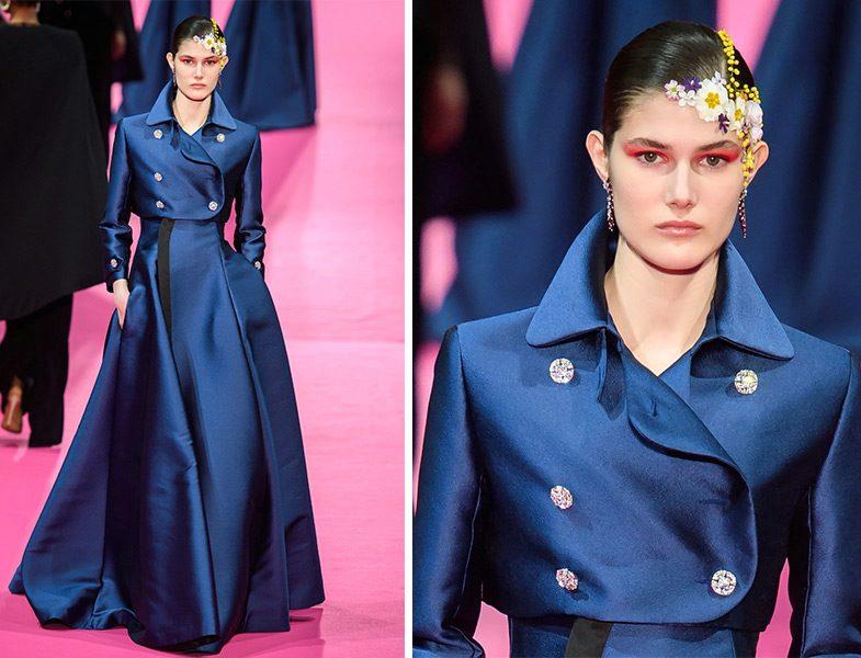 Alexis Mabille 2019 İlkbahar Yaz Couture Koleksiyonu Kruvaze Kabarık Elbise Modeli